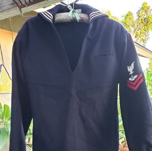Vintage Suits & Blazers - Vintage Wool Sailor Uniform.